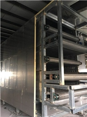 Belt type agricultural product drying equipment production plant