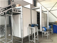 Belt agricultural product dryer